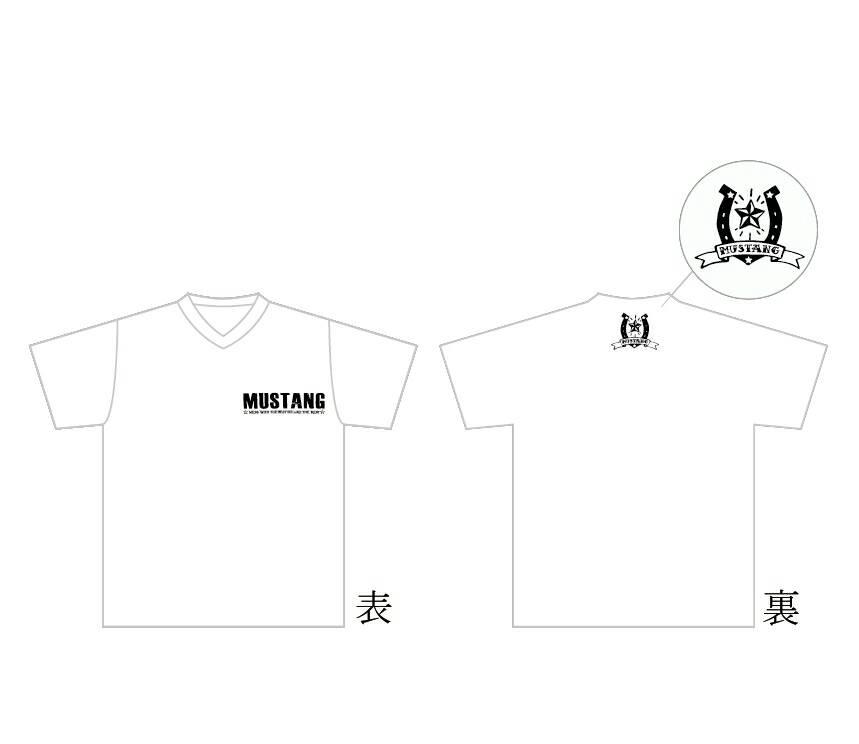 MUSTANG Tシャツ type1(白)